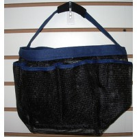 Shower Caddy- Black with Blue Trim