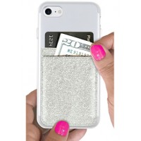 Phone Pocket- Silver Glitter