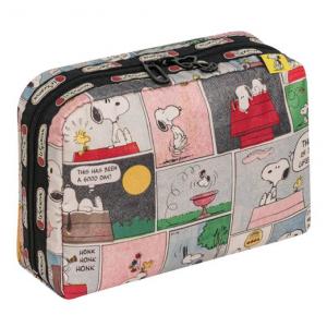 LeSportsac Snoopy Patchwork XL Rectangular Cosmetic