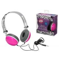 Headphones - Zebra Fuchsia