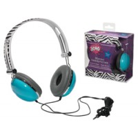Headphones - Zebra Blue
