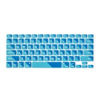 Flapjacks Flexible Keyboard Cover 2 Tone Blue