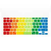 Flapjacks Flexible Keyboard Cover Rainbow