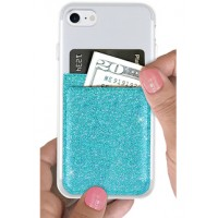 Phone Pocket- Turquoise Glitter