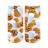 -Printed Socks- Milk & Cookies