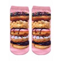 -Printed Socks- Donut