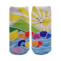 -Printed Socks- Summer Camp