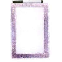 Dry Erase Board Purple Glitter Rectangle