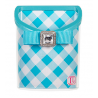 Magnetic Locker Bin Blue Gingham