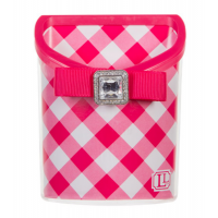 Magnetic Locker Bin Pink Gingham