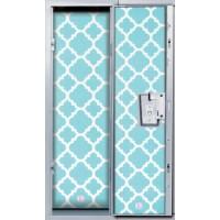 Locker Wallpaper- Blue Glitter