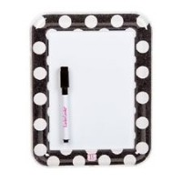 Dry Erase Board - Black/White Polka Dot