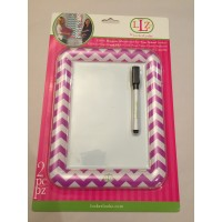 Dry Erase Board - Chevron Light Purple