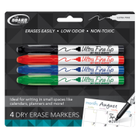 Markers- Four Ultra Fine Dry Erase