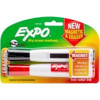 Markers- Two Chisel Tip Magnetic & Eraser Dry Erase