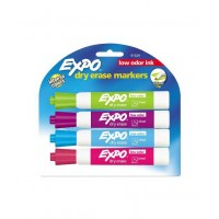 Markers- Four Chisel Tip Intense Colour Dry Erase