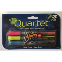 Markers- Three Fine Neon Dry Erase Paint Markers