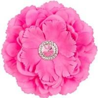 Silk Peony Flower Magnet - Pink