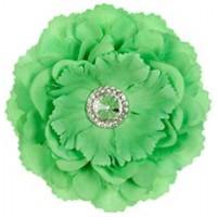 Silk Peony Flower Magnet - Green
