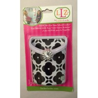 Magnetic Locker Bin- Black & White Flowers