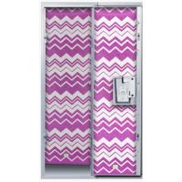 Locker Wallpaper- Pink Chevron