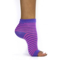 Toeless Socks Pink & Purple Stripe