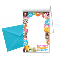 Notepad-Envelopes-Pen- Donut Worry