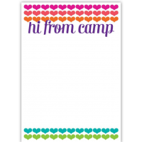 Notepad and Envelopes- Hi From Camp Hearts