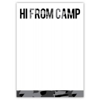 Notepad and Envelopes- Hi From Camp Camo