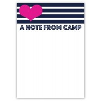 Notepad and Envelopes- A Note From Camp Stripes