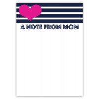 Notepad and Envelopes- A Note From Mom Stripes