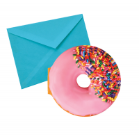 Notecards Pink Donut Frosted Cake Scented