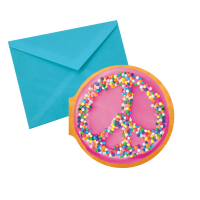 Notecards Peace Donut Chocolate Scented