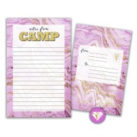 Seal-N-Send Stationery Gold Marble