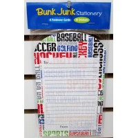 Foldover Cards Sports Grafitti- Bunk Junk