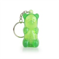Gummy Bear Keychain Green