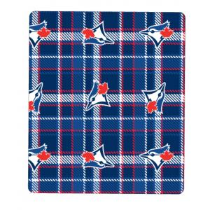 Blanket - Blue Jays Fleece Plaid
