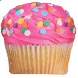 Microbead Pillow Pink Cupcake
