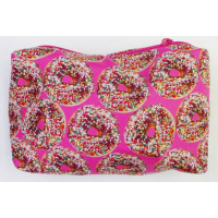 Cosmetic/Toiletry Bag/Pencil Case- Small Doughnuts