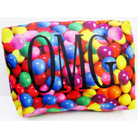 Cosmetic/Toiletry Bag/Pencil Case- Large OMG Gumballs