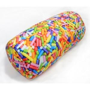 Microbead Bolster Pillow- Sprinkles