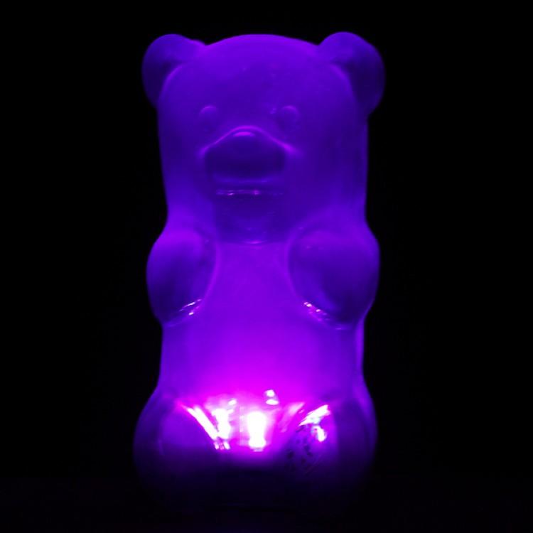gummy bear night light purple