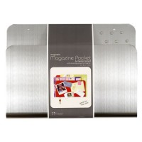 Magnetic Magazine Pocket and Memo Board- Stainless