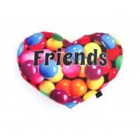 Autograph Pillow- Heart Friends