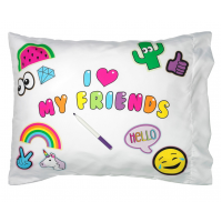 Pillow Case- I Love My Friends