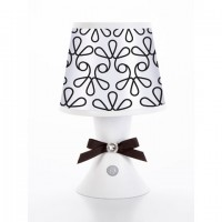 Desk Lamp- White with Black Swirl