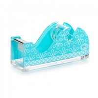 Desktop Tape Dispenser- Aqua Swirl